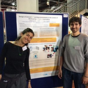 Elena Jurado and Raul Bardají, presenting one of the posters at the conference ECSA 2016.